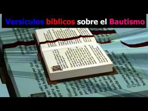 Versículos biblicos sobre el Bautismo