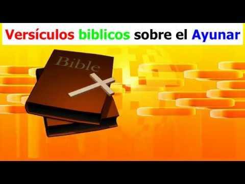 Versículos bíblicos sobre el Ayunar