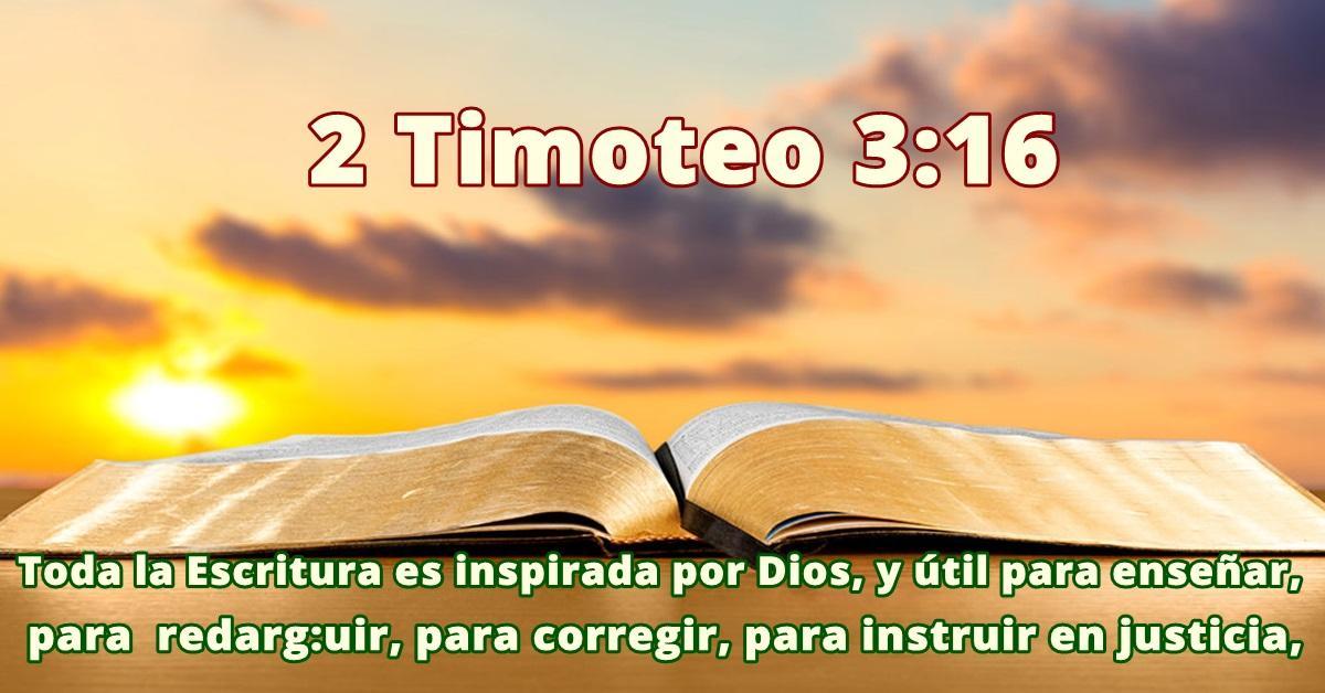 La Biblia es un conjunto de libros - 2 Timoteo 3:16
