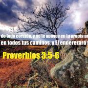 Confianza en el Señor - Proverbios 3:5-6