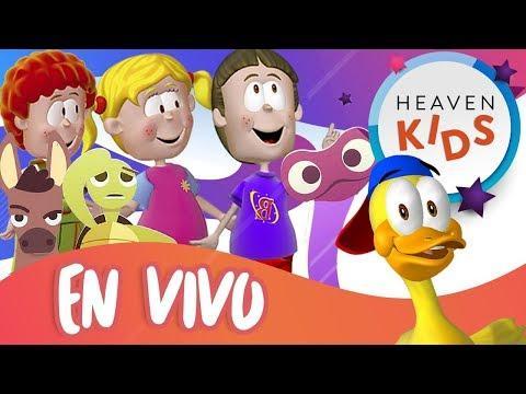 Canciones Infantiles Cristianas  - Los mejor de Heaven Kids ¡¡EN VIVO!!