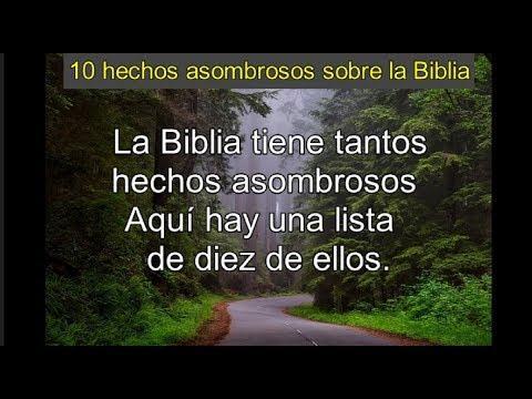10 hechos asombrosos sobre la Biblia