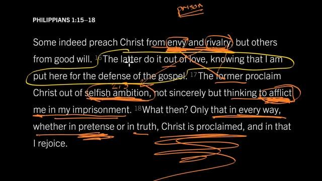 John Piper -  Do You Proclaim Christ from Envy? - Philippians 1:15–18