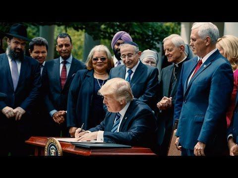 El presidente de Estados Unidos firma una orden pro-libertad religiosa