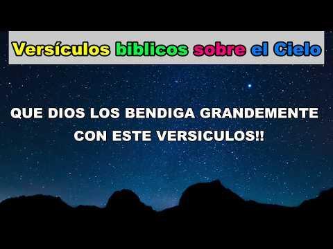 Versículos bíblicos sobre el Cielo