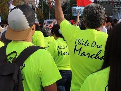 Chilenos marchan para Jesús y en contra de la agenda liberal