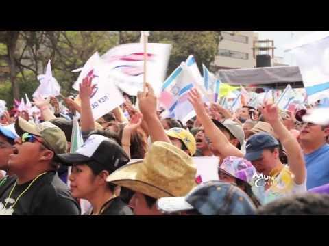 Miltitudinaria marcha para bendecir a México e Israel