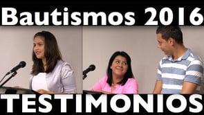 Testimonios de Yohana, Yenny y Leo, en el día de sus bautismos en - Semilla Bilbao