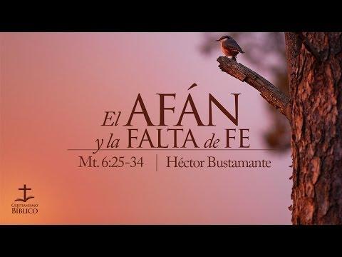 Héctor Bustamante - El afán y la falta de fe - Mateo 6.25-34